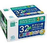 エコリカ リサイクルインクカートリッジ EPSON IC32シリーズ 6個パック IC6CL32 ECI-E326P/BOX