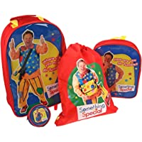 Something Special Mr Tumble Kids Children Luggage Set Backpack Draw String Bag and Wallet - BBC CBeebies TV Show Official Merchandise