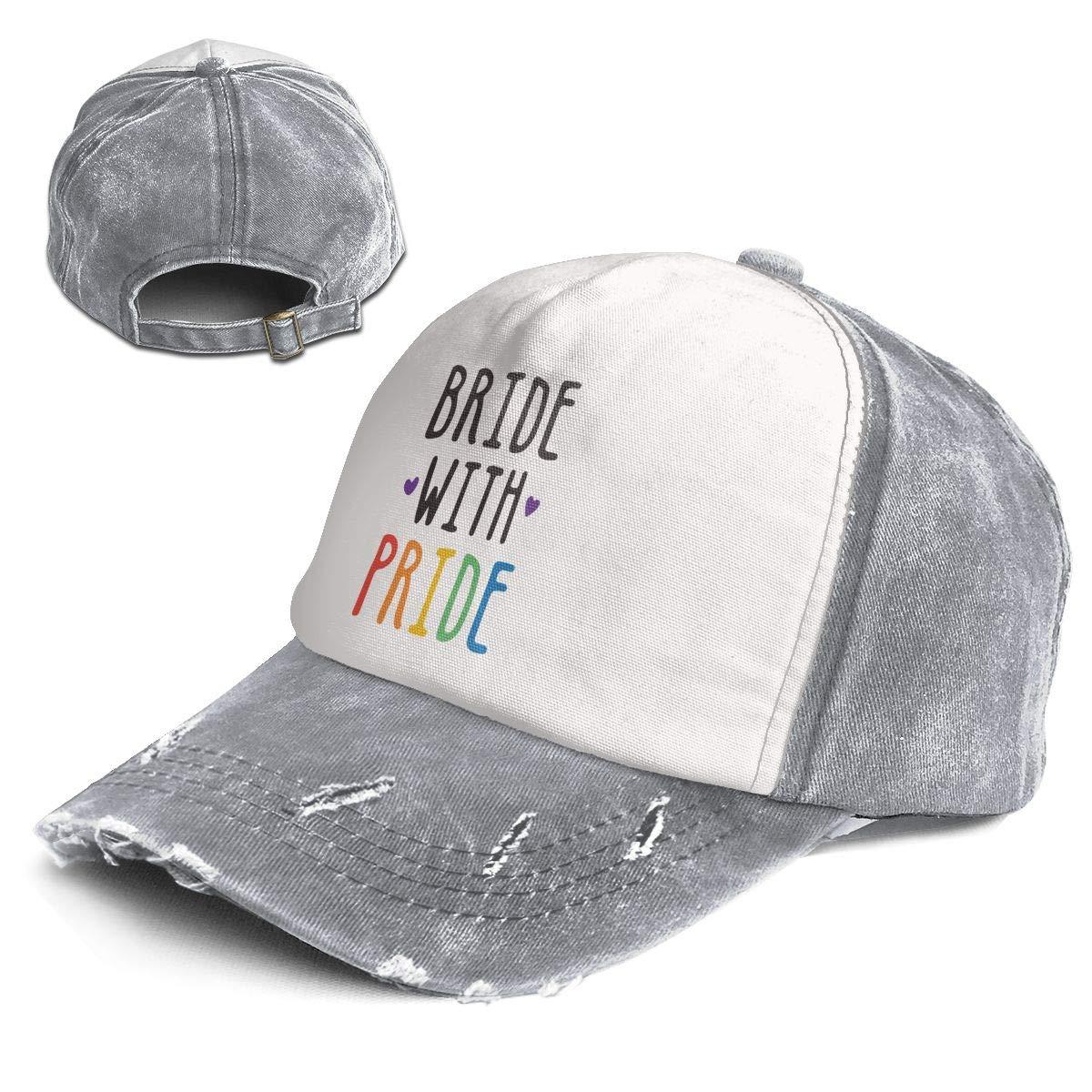 Fashion Vintage Hat Bride with Pride Adjustable Dad Hat Baseball Cowboy Cap