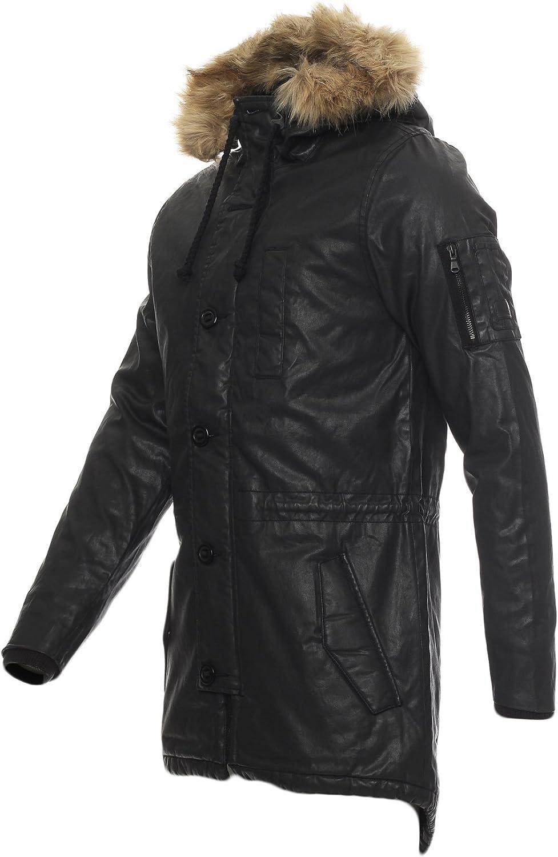 96E2 adidas Herren Neo Winter Jacke Kunstleder S90298