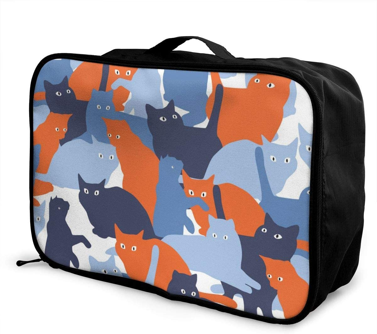 Yunshm Seamless Pattern With Cats In Military Style Personalized Trolley Handbag Waterproof Unisex Large Capacity For Business Travel Storage
