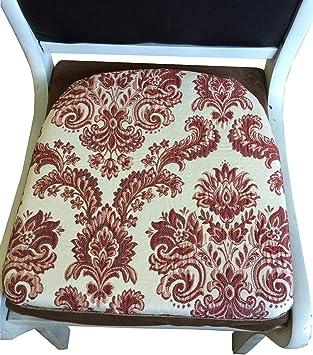 "Sideli Foam Kitchen Chair Pads Non slip 16""x16"" - Set of 4,(4, COLOR1)"
