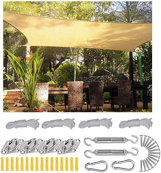 XLINGZ Rectangular Toldo y Transpirable Pergola Kit Exterior ...