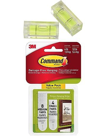 Command - Tiras para colgar cuadros (4 pares pequeños y 8 medianos (17203-
