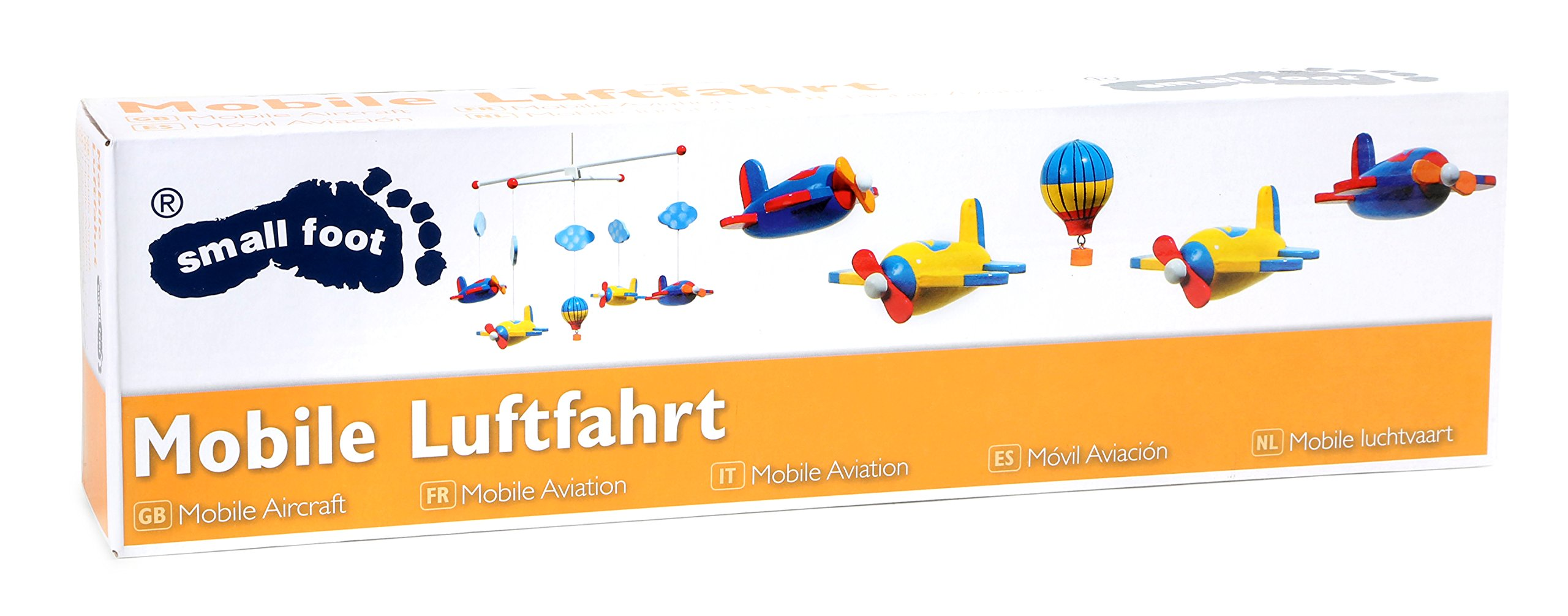 Aeroplane and Balloon Wooden Ceiling Mobile