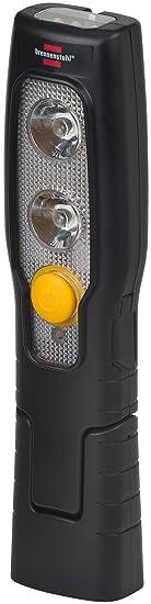 Brennenstuhl LED Taschenlampe mit Akku / Akku Handleuchte mit Schalter und Magnet zum flexiblen Einsatz (2 LEDs + 3 LEDs im L