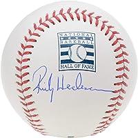 $187 » Rickey Henderson Oakland Athletics Autographed Hall of Fame Logo Baseball - Fanatics Authentic Certified