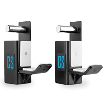 Capital Sports J-Hook Pareja de ganchos en J Accesorio para Rackster Acero galvanizado Negro: Amazon.es: Deportes y aire libre