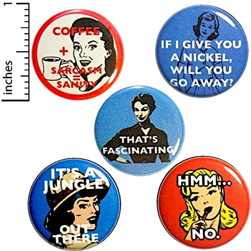 Amazon com: Sarcastic 5 Pack Buttons for Backpacks Pins or