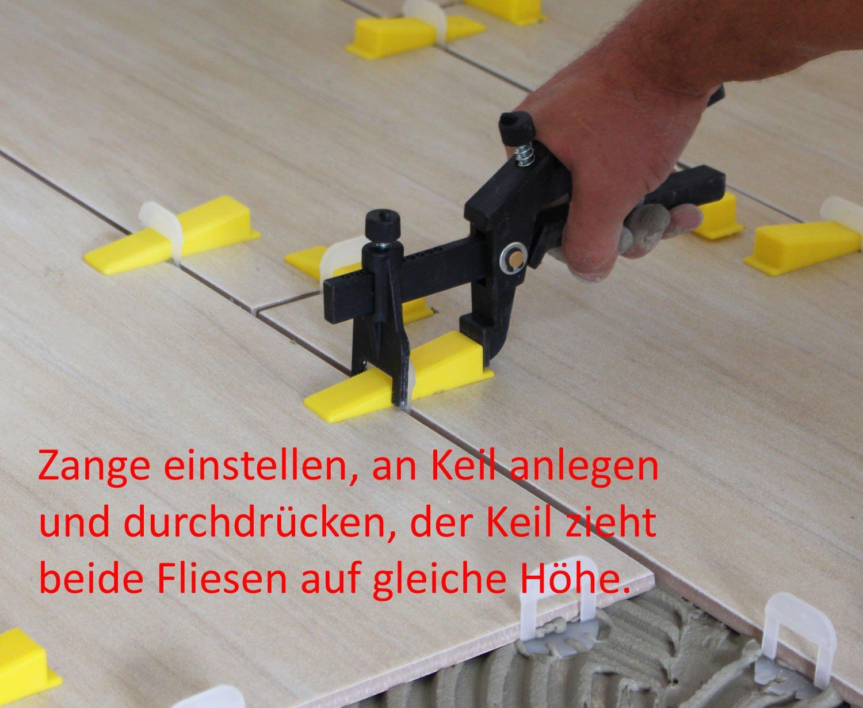 Lantelme/® Fliesennivelliersystem 1mm Midi Set 200 St/ück