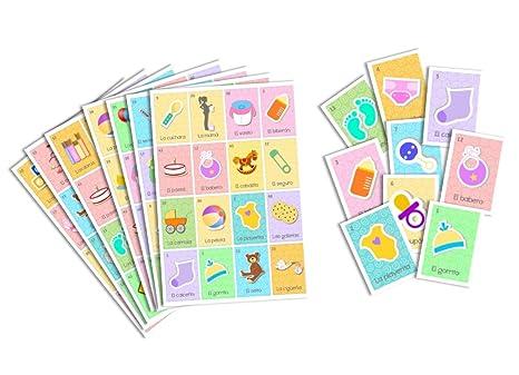 Amazon Juego De Lotera Para Baby Shower Bingo For Baby Shower