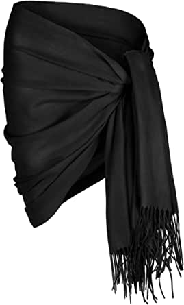 Sunning Cashmere Blend Scarf Pashmina Shawl Wrap. Ideal for for Evening & Day Wear. Soft & Warm, Easy Care Oversized Pashmina Wrap. Ladies Cashmere Scarf Wrap, One Size: 172 x 68 cms