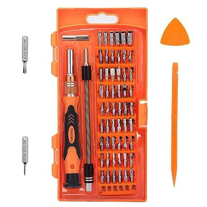 Juego de destornillador de precisión con 56 Bit Magnetic Driver Kit, Muzee 62 en 1 Electronics Kit de herramientas de reparación para iPhone / iPad ...