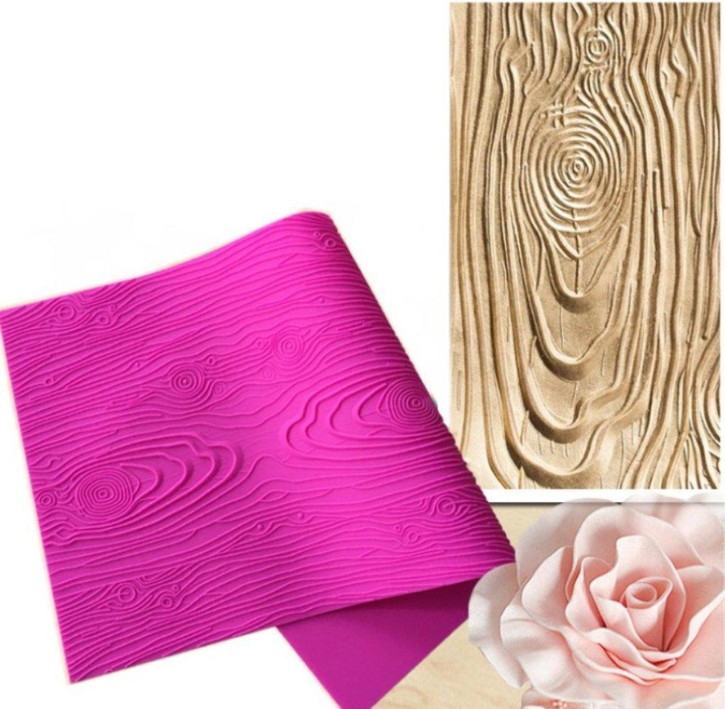 Fondant Impression Mat, Big Tree Bark Texture Design Silicone Cake Decorating Supplies for Cupcake Wedding Cake Decoration Somtis