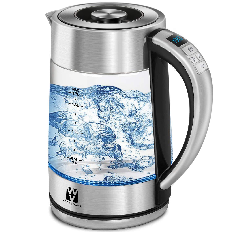 Amazon.com: Vestaware Glass Electric Kettle, 1.7L Electric Kettle ...