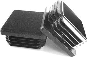 Prescott Plastics 1 1/2 Inch Square Plastic Plug, Tubing Post End Cap, Chair Glide (20)