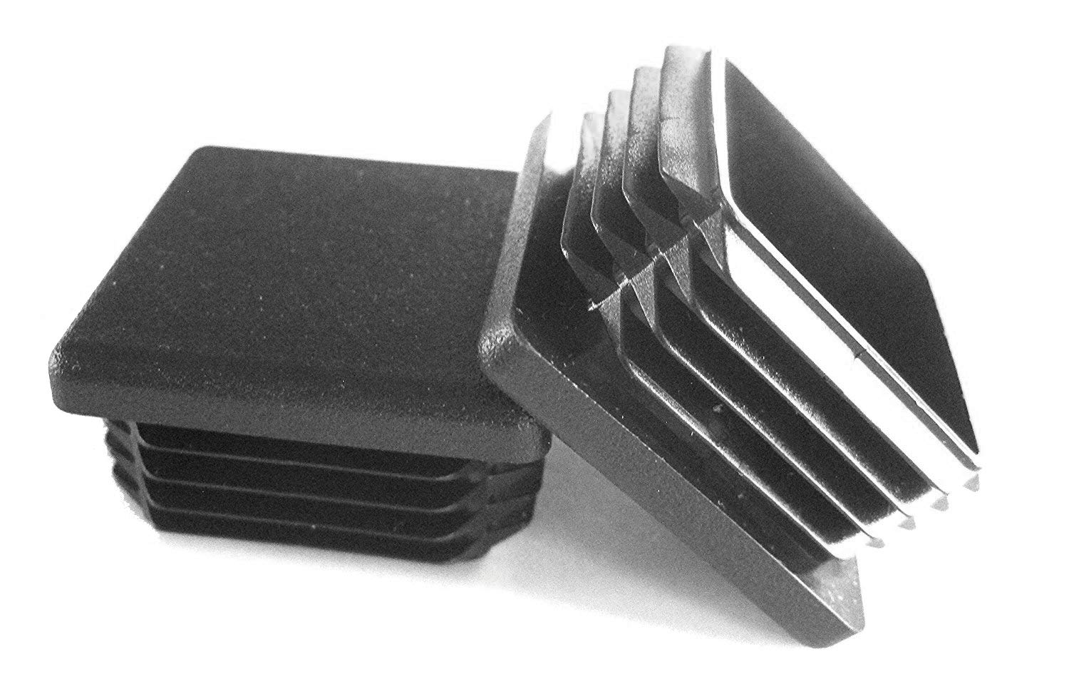 8 Pack: 1 1/2 Inch Square Plastic Plug, Tubing End Cap, Durable Chair Glide
