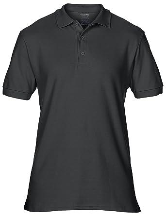 8a78cacba4dbb9 GILDAN Men's Premium Cotton Polo Shirt by 18 Colours Available - Black - S