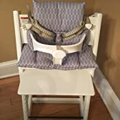 Blausberg Baby - Cushion Set for Tripp Trapp High Chair of Stokke - Grey Sailer