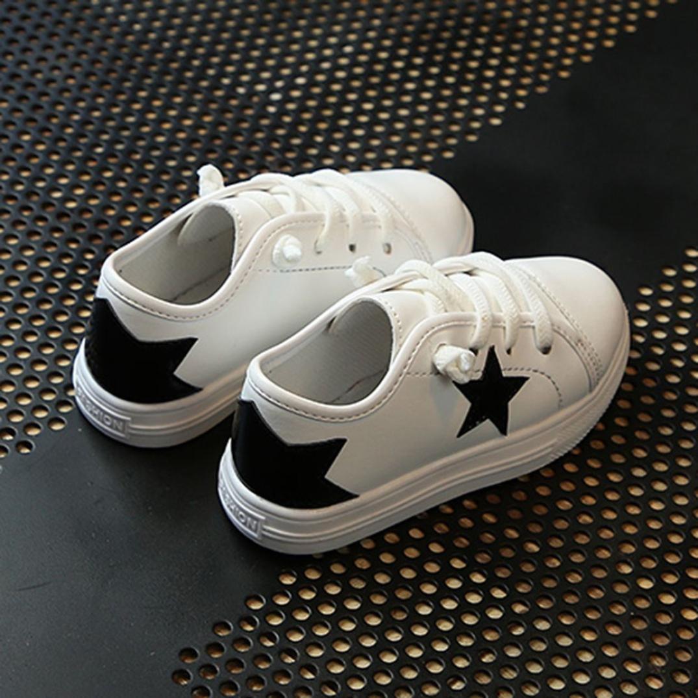 Memela children Kid Infant Boys Girls Star Bling Sneaker Lazy Casual Plate Shoes
