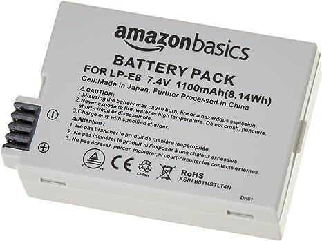 AmazonBasics - Batería de iones de litio para cámaras Canon (LP-E8): Amazon.es: Electrónica