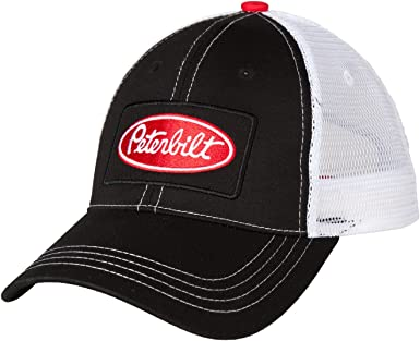 Charcoal Twill Mesh Truckers Cap     Free Shipping in USA Peterbilt Hat