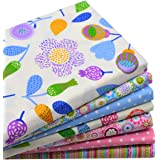 "iNee Floral Fat Quarters Quilting Fabric Bundles for Quilting Sewing Crafting, 18"" x 22"", (Floral)"