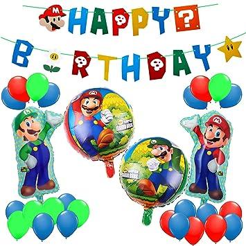 Paquete de fiesta de cumpleaños de Mario, Super Mario Bros ...