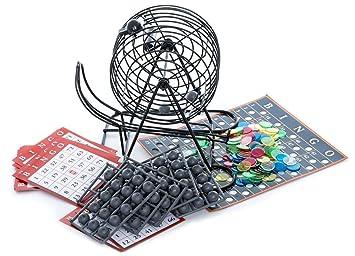 Spinmaster 6033152 Deluxe - Jaula de bingo y bolas  Amazon.es  Juguetes y  juegos 1ea674266c612