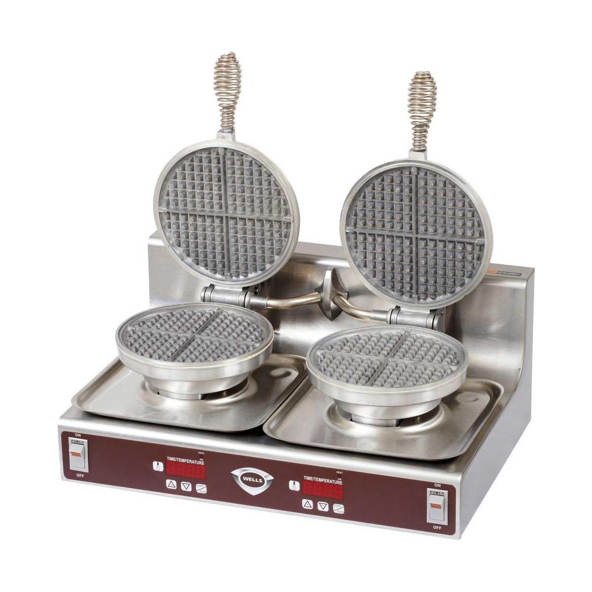 120v Wells WB-2E Double Round Waffle Baker