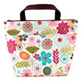 Amazon Price History for:Lunch Bag Flower Lunch Box Insulated Lunch Bag with 2 Handles Lunch Bag for Women with Outside Pocket Flower Pattern