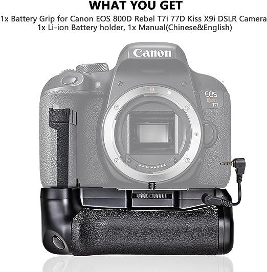 SAMTIAN BG-1X empuñadura de batería para Canon EOS 800D Canon EOS ...