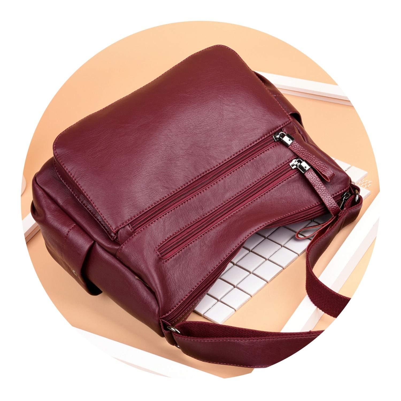 Many Pocket Big Crossbody Bags For Women 2018,BLUE,Russian Federation