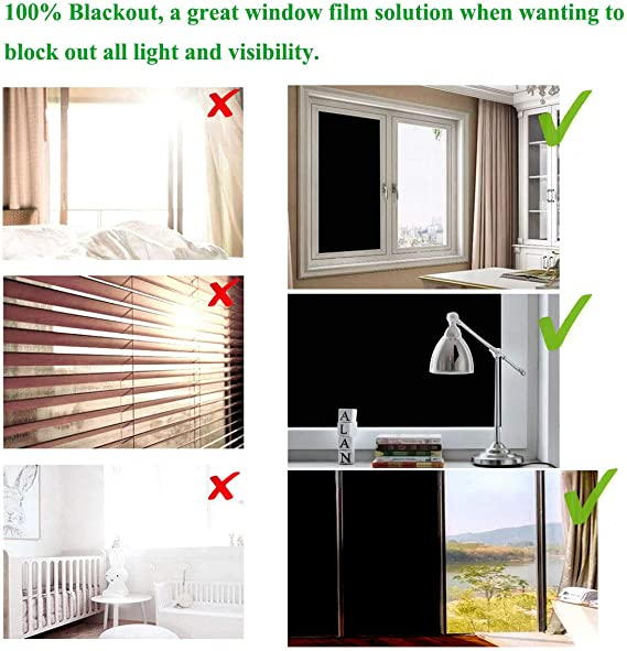 Privacy Film for Glass Windows Frosted Window Sticker Non-Adhesive LINXIN Frosted Window Film 45cm x 2m Frosted 2