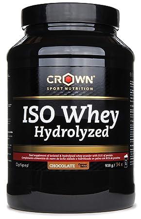 Crown Sport Nutrition ISO Whey Hydrolyzed Optipep 90, Proteína de Suero de Leche Hidrolizada, Sabor de Chocolate - 918 g: Amazon.es: Salud y cuidado ...