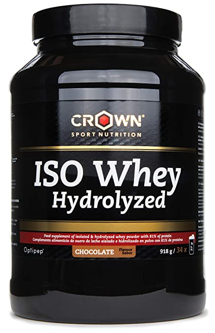 Crown Sport Nutrition ISO Whey Hydrolyzed Optipep 90, Proteína de Suero de Leche Hidrolizada,
