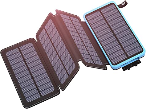 Hiluckey Cargador Solar 25000mAh, Portátil Power Bank con 2 USB ...