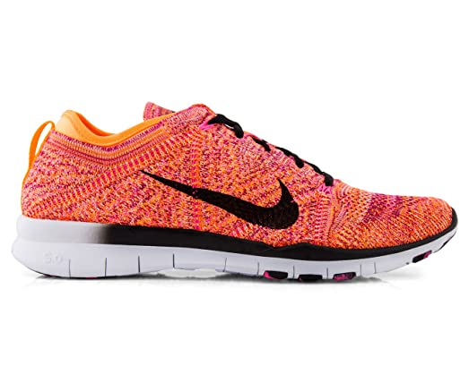 nike free tr flyknit womens cross trainers orange/black ar-15
