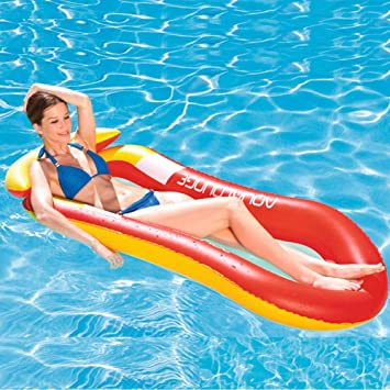 Amazon.com: Tumbona hinchable hamaca portátil flotador de ...