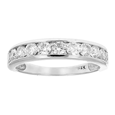 diamond eternity artemer gold wedding solid ring diamonds pave micro products band classic