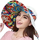 Women's Reversible Foldable Floppy Sun Hat with Wide Brim UPF 50+