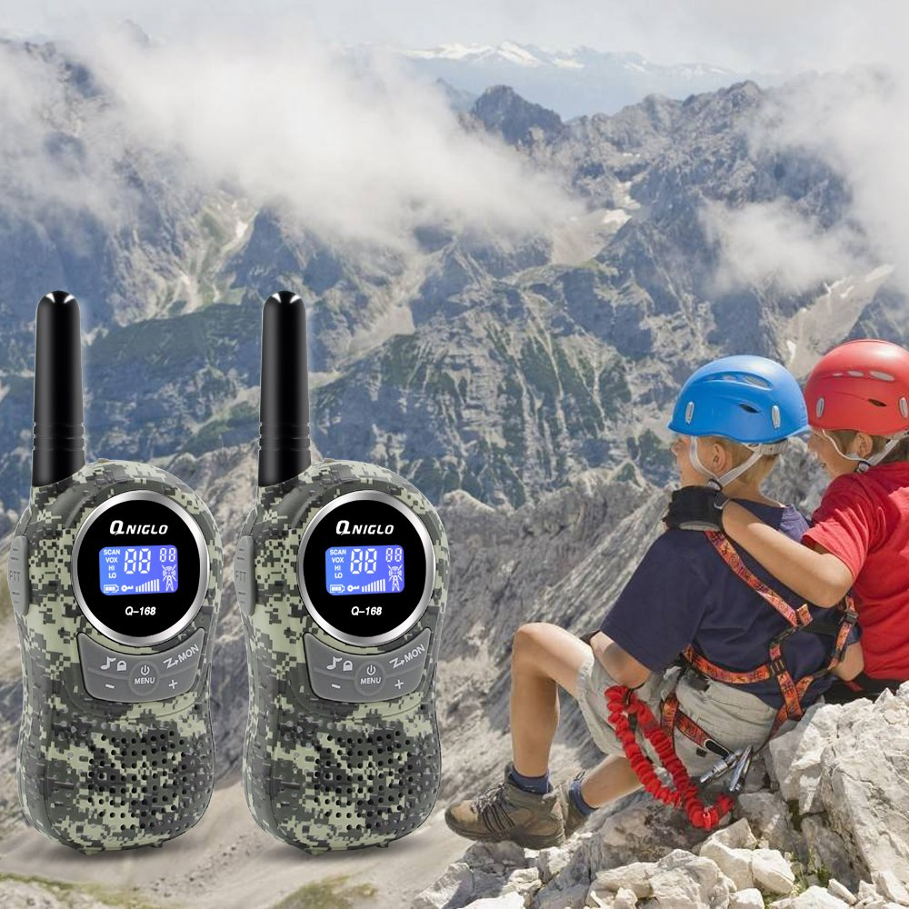 Qniglo Kids Walkie Talkies 2 Way Radio 3 Miles Long Range 22 Channels Walkie Talkies Kids Outdoor Camping Toys Gifts Boys Girls (Camouflage Green) by Qniglo (Image #7)