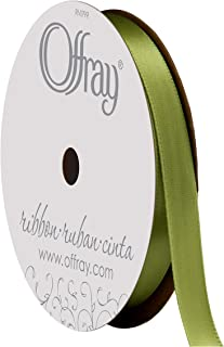 "product image for Berwick Offray 475850 3/8"" Wide Single Face Satin Ribbon, Lemon Grass Green, 6 Yds"