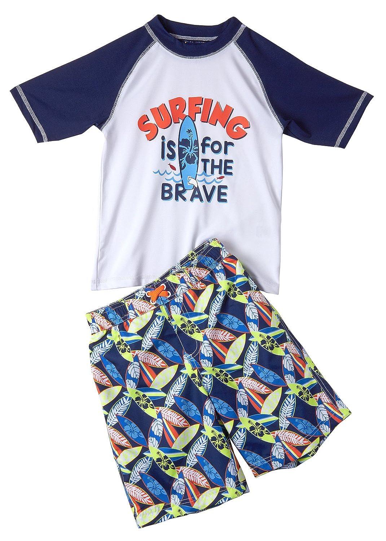 iXtreme Baby Boys Rashguard Polyester Swimsuit Set, Multiple Sizes and Colors