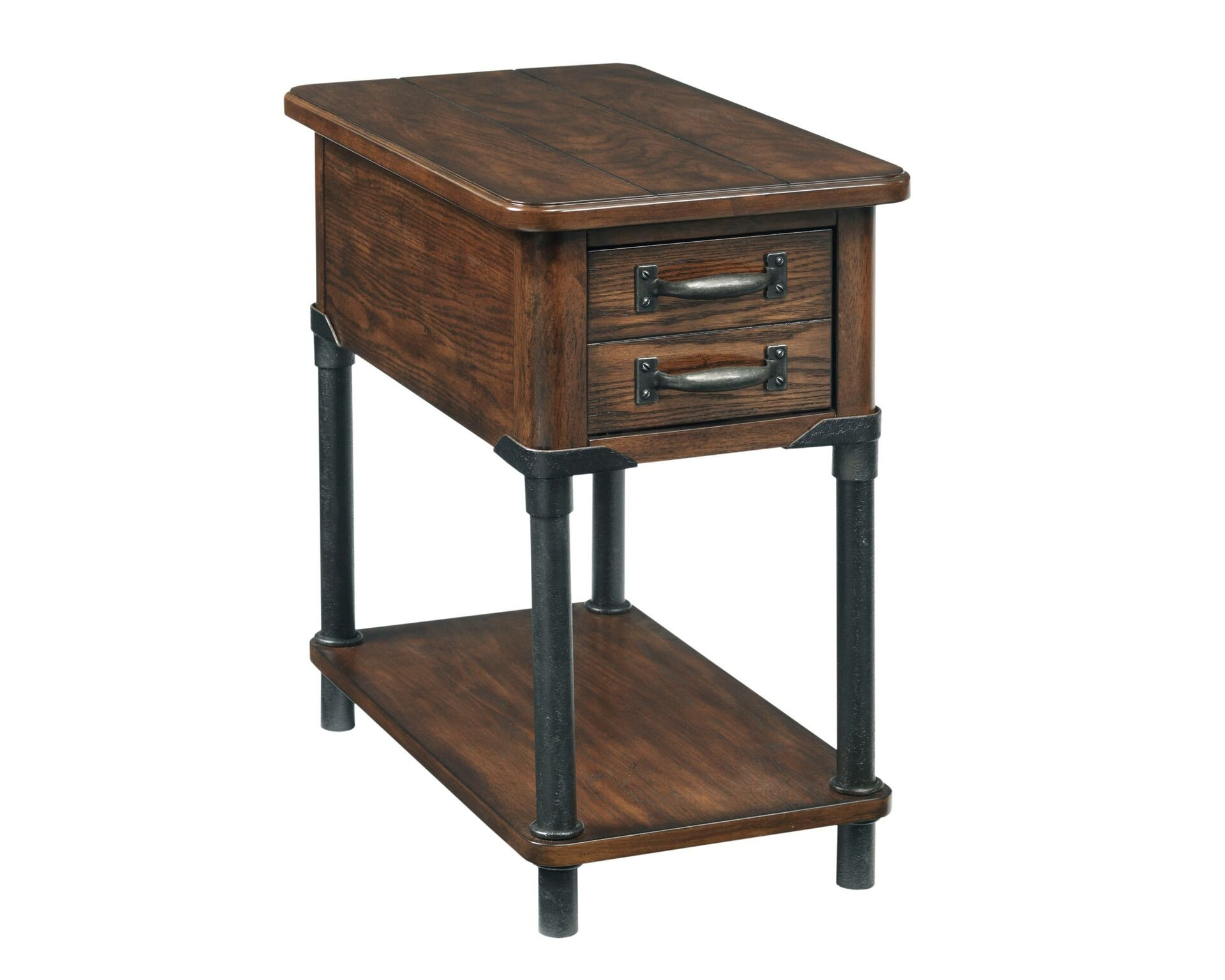 Broyhill Saluda Accent Table - It has one drawer Transitional - warm oak Finish with metal accents The product made in Vietnam - living-room-furniture, living-room, end-tables - 71XHXGZUQbL -