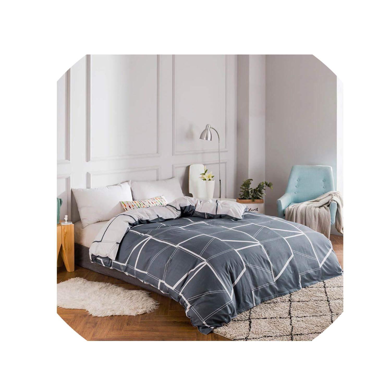 100% Cotton Duvet Cover Comforter/Quilt/Blanket Case 100% Cotton with Zipper Twin Full Queen King Double Single Size,2023470C,200X220Cm