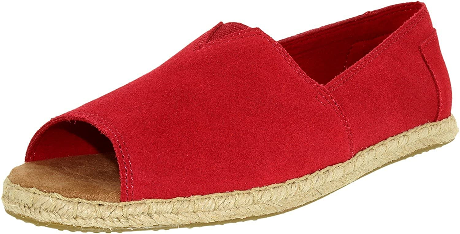 6e2f7ca0d757 TOMS Women s Open Toe Alpargatas Slip-on Raspberry Suede 6.5 B(M) US  Buy  Online at Low Prices in India - Amazon.in