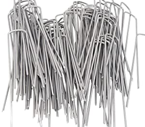 OuYi AAGUT 200 6 Inch Garden Stakes Galvanized Landscape Staples 11 Gauge Sod Pin GroundPegs_W200US