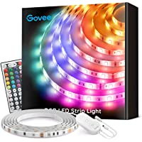 Govee LED Strip Lights 16.4ft Waterproof Color Changing Light Strips with Remote, Bright 5050 and Multicolor RGB LED…