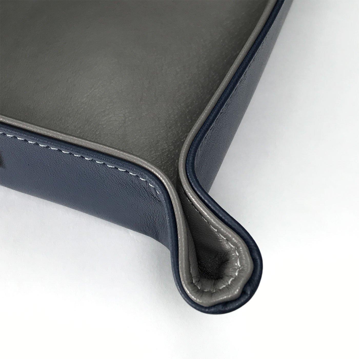 Handgefertigt in unserem Atelier 0-20 innen Schlamm//Braun Lederschale 20x20cm Doro von Hagen/® Echt Leder Designer Taschenleerer aussen Schwarz Schl/üsselschale
